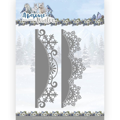 ADD10255 Dies - Amy Design - Awesome Winter - Winter Lace Border