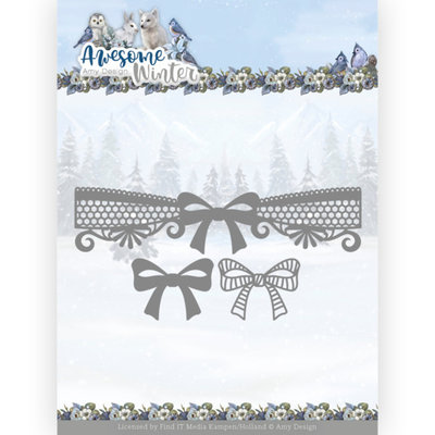 ADD10254 Dies - Amy Design - Awesome Winter - Winter Lace Bow