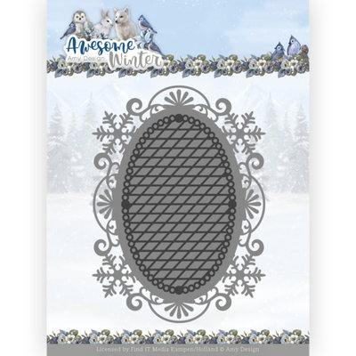 ADD10253 Dies - Amy Design - Awesome Winter - Winter Lace Oval