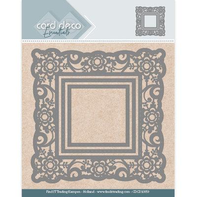 CDCD10059 Card Deco Essentials Aperture Dies - Flower Square