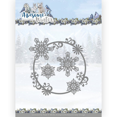 ADD10257 Dies - Amy Design - Awesome Winter - Winter Swirl Circle