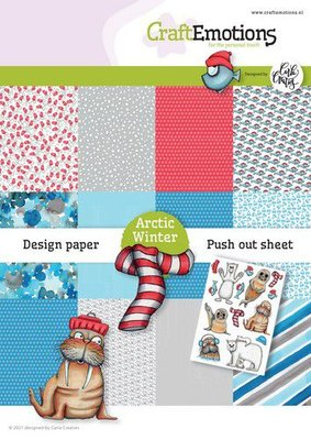 CraftEmotions Design Arctic Winter 12 vel + push out vel - A5 Carla Creaties A5 12+1 (10-21)