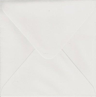 1000 stuks vierkante enveloppen 14x14 wit 120 grams