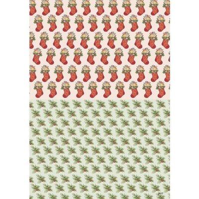 3D knipvel Anne Design 2617 Kerst Achtergrond A4