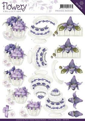 3D knipvel Card Deco CD10670 Precious Marieke - Flowery - Congratulations