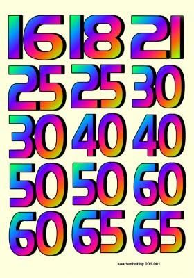 3D Knipvel KaartenHobby 001.001 Leeftijden A4