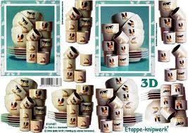 3D knipvel Le Suh 4169.453 Servies A4