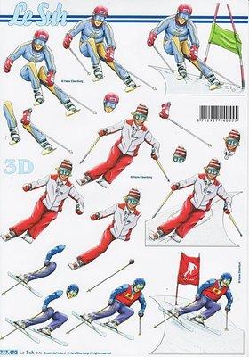 3D Knipvel Le Suh 777.492 Skiën A4