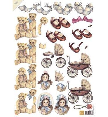 3D knipvel Marianne Design MB 0136 Matties vintage baby