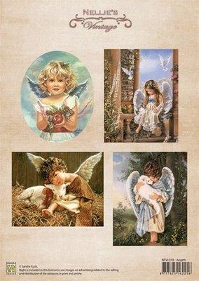 3D knipvel Nellie Snellen NEVI018 Vintage Angels