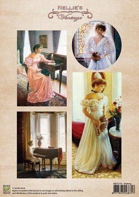 3D knipvel Nellie Snellen NEVI019 Vintage Waiting