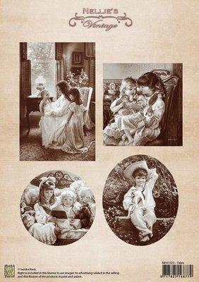 3D knipvel Nellie Snellen NEVI025 Vintage Tales