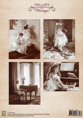 3D knipvel Nellie Snellen NEVI027 Vintage Piano