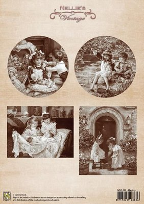 3D knipvel Nellie Snellen NEVI029 Vintage Playing