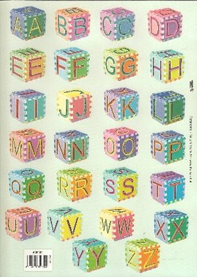 3D knipvel TBZ 529.039 Letters op dobbelstenen
