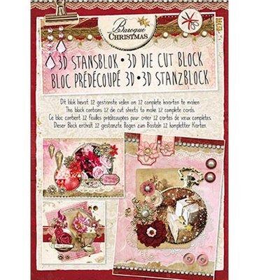 3D stansblok - Studiolight - nr. 36 - Christmas Baroque