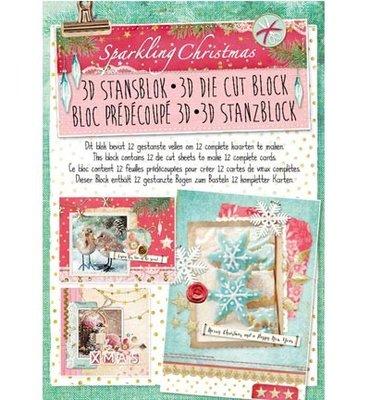 3D stansblok - Studiolight - nr. 37 - Sparkling Christmas