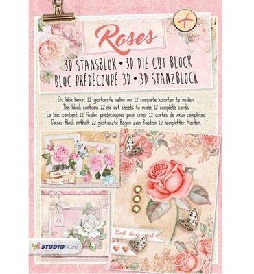 3D stansblok - Studiolight - nr. 41 - Roses