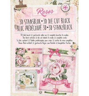 3D Stansblok - Studiolight - Roses - nr. 27