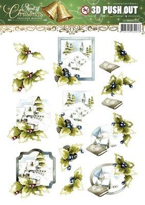 3D uitdrukvel Card Deco SB10117 Precious Marieke - Spirit of Christmas