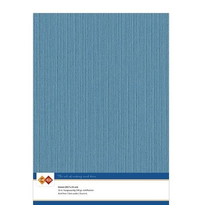 40 Card Deco Linnen A4 10 vel turquoise 240grm