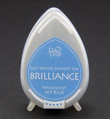 BD-38 - Brilliance Ink - Dew Drop - Pearlescent Sky Blue