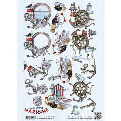 CD10879 - 3D Knipvel - Amy Design - Maritime - Zee elementen