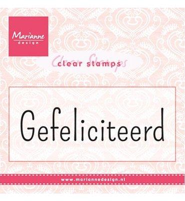 CS0960 Marianne Design - Clear Stamp - Gefeliciteerd