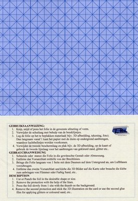 Dubbelzijdig klevend folie A4 (3 vellen) Transparant