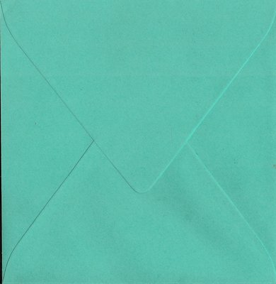 Enveloppen vierkant 14x14 10 stuks Aqua (120gr.)