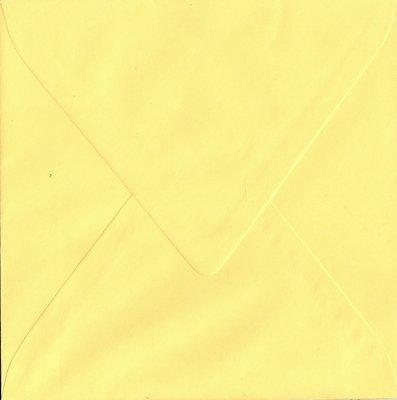 Enveloppen vierkant 14x14 10 stuks Geel (90gr.)