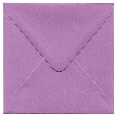 Enveloppen vierkant 14x14 10 stuks paars  (90gr.)