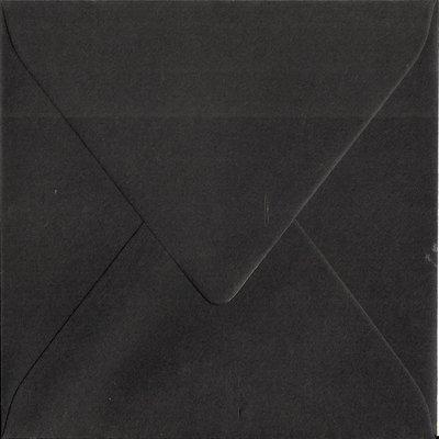 Enveloppen vierkant 14x14 10 stuks Zwart (120gr.)