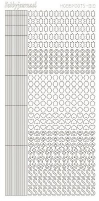 Hobbydots stickers serie 10 compleet (22 stickervellen)