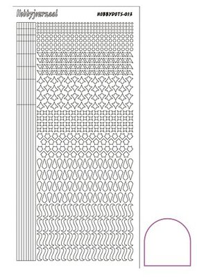Hobbydots stickers serie 13 compleet (22 stickervellen)