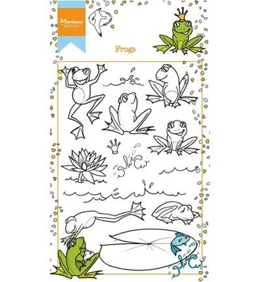 HT1617 - Marianne Design - Clear Stamp - Hetty's Frogs - 94x140mm