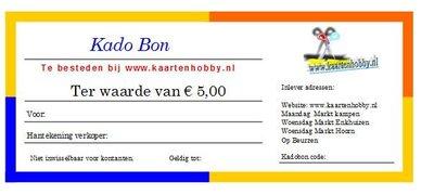 Kadobon €5,-