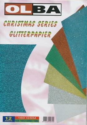 OLBA - Christmas Series - Glitterpapier