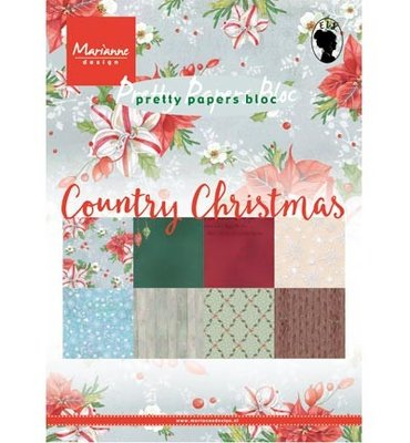 PK9139 Marianne Design - Pretty Papers Bloc - Country Christmas - A5
