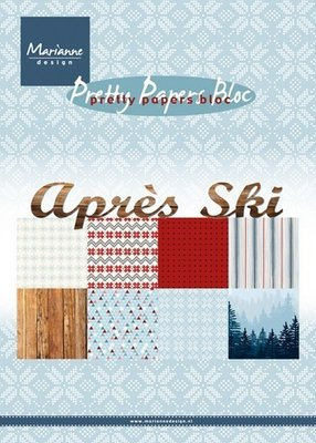 PK9142 Pretty Paper Bloc - Marianne Design - Apres Ski - A5 - 8 dessins - 32 sheets