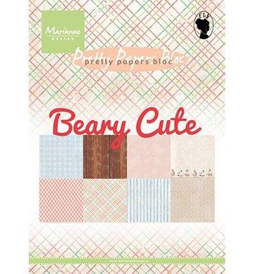 PK9145 - Marianne Design - Pretty Papers Bloc - Beary Cute - A5 - 4x8 designs