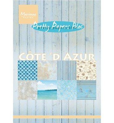PK9146 - Marianne Design - Pretty Papers - Cote d'Azur - A5 - 4x8 designs