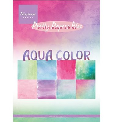 PK9147 - Marianne Design - Pretty Papers - Aqua Color - A5 - 4x8 designs