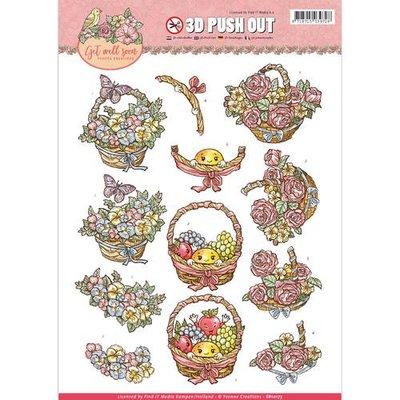 SB10175 - Pushout - Yvonne Creations - Get Well Soon - Fruit Basket