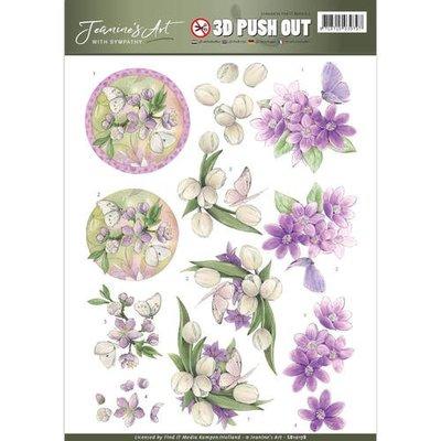 SB10178 - Pushout - Jeanine's Art - With Sympathy - Violet Flowers