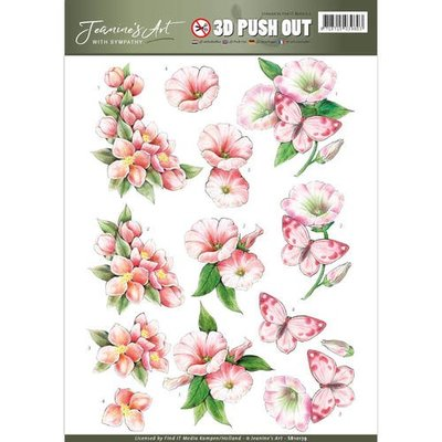 SB10179 - Pushout - Jeanine's Art - With Sympathy - Pink Flowers