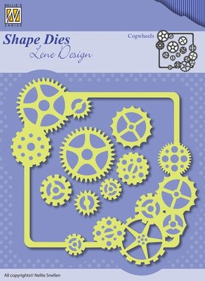 SDL038 - Nellie Snellen - Shape Dies - Lene Design - Men things - Cogwheels