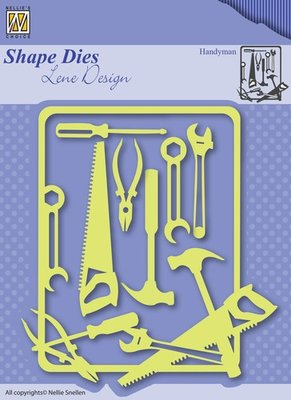 SDL040 - Nellie Snellen - Shape Dies - Lene Design - Men things - Handyman
