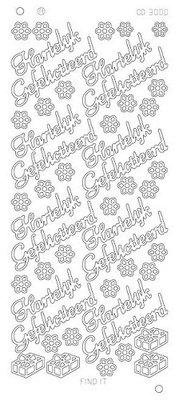 Stickervel 3000 Card Deco Hartelijk Gefeliciteerd Platinum
