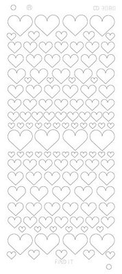 Stickervel 3080 CD Hearts Various Platinum